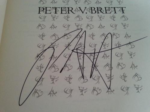 Peter V Brett Autograph
