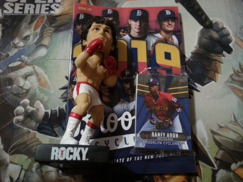 Brooklyn Cyclones Team Set and Rocky Bobblehead