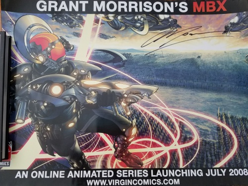 Grant Morrison MBX Signed Poster