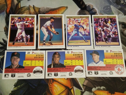 1991 O Pee Chee Baseball Cards