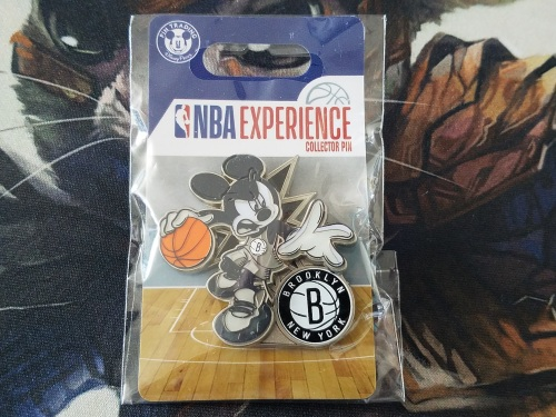 Mickey Mouse Brooklyn Nets Pin