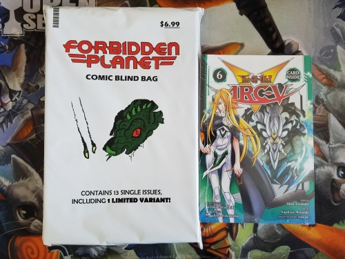 Comic Book Blind Bag and Yugioh Manga