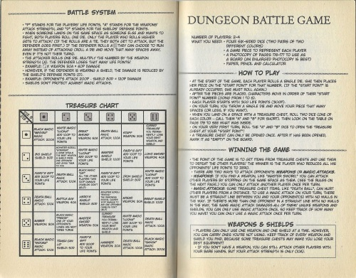 Dungeon Battle Game Rules