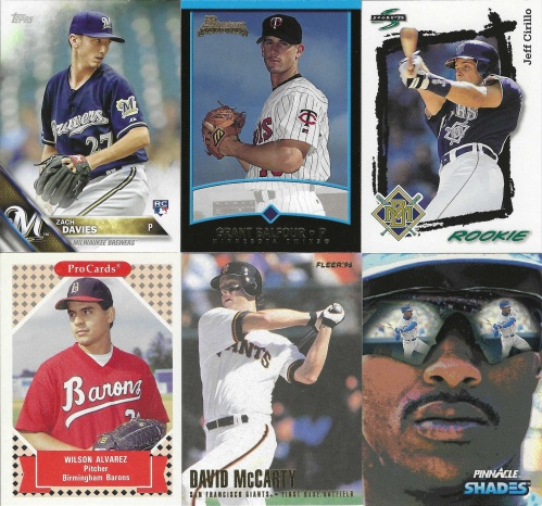 Baseball Cards from a Repack