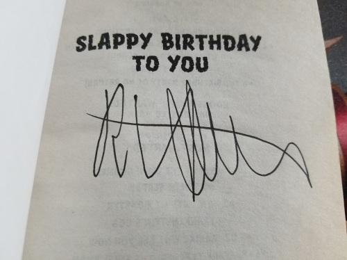 RL Stine Autograph